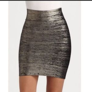 BCBGMaxAzria XS skirt bandage metallic high waist